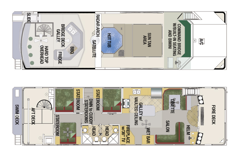 Image Gallery Houseboat Plans