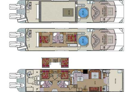 Custom houseboat sales and manufacturing floorplans for Boat house floor plans